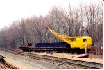 Burro crane and flat car on the NECR